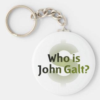 ¿Quién es Juan Galt? Símbolo del dinero Llavero Redondo Tipo Pin