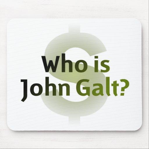 ¿Quién es Juan Galt? Símbolo del dinero Alfombrillas De Ratones