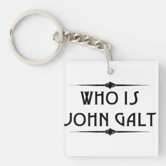 Quién es llavero del acrílico de Juan Galt