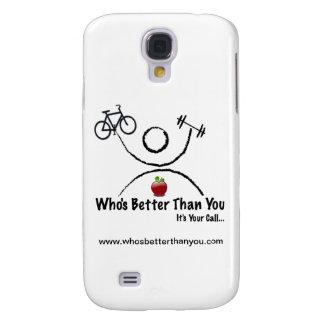 Quién es mejor que usted estuche rígido del iPhone Funda Para Galaxy S4