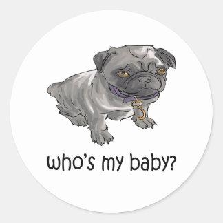 ¿Quién es mi bebé? Etiqueta Redonda