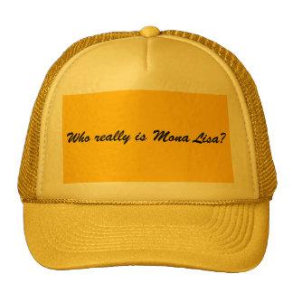 ¿Quién es realmente Mona Lisa? Gorros Bordados