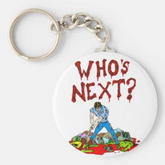 ¿Quién es siguiente? Zombis Llavero Redondo Tipo Pin