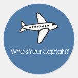 ¿Quién es su capitán? Pegatina