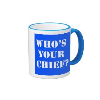¿Quién es su jefe? Taza de café