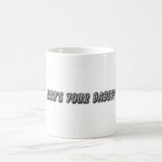 ¿Quién es su papá? Taza De Café