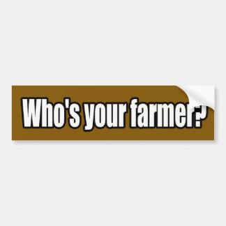 Quién es su pegatina para el parachoques del granj pegatina para auto