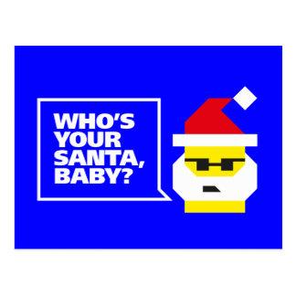 ¿Quién es su Santa, bebé? Postal