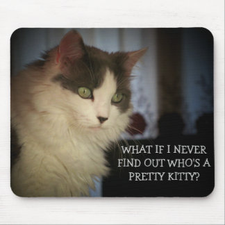 ¿Quién es un gatito bonito? Tapete De Ratones