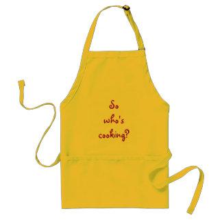 ¿Quién está cocinando tan? Delantal