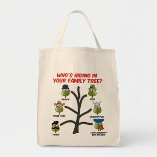 Quién está ocultando en su árbol de familia bolsa tela para la compra