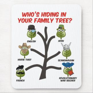 Quién está ocultando en su árbol de familia mousepads