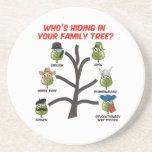 Quién está ocultando en su árbol de familia posavasos diseño