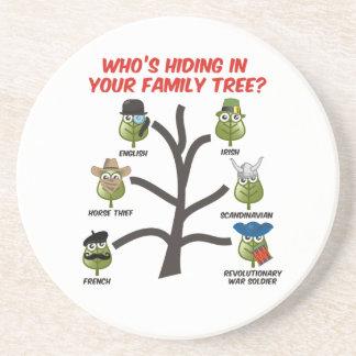 Quién está ocultando en su árbol de familia posavasos manualidades