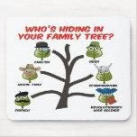Quién está ocultando en su árbol de familia alfombrilla de ratón