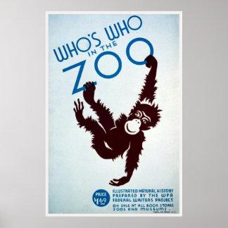 Quién está quién en el parque zoológico posters