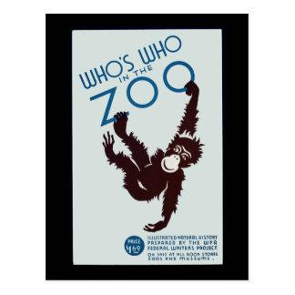 quién está quién en el parque zoológico tarjetas postales
