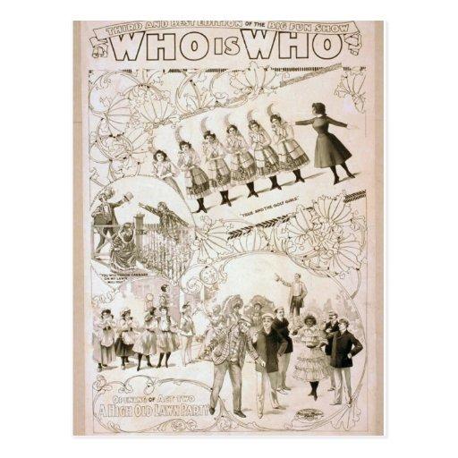 Quién está quién teatro del vintage postales