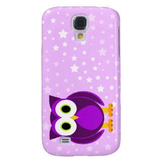 ¿Quién? Fondo lindo de señora Purple Owl Cartoon S Funda Para Galaxy S4