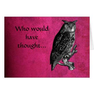 Quién habría pensado… la tarjeta de nota del búho