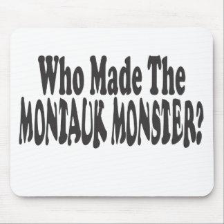 ¿Quién hizo al monstruo de Montauk - Dos líneas Alfombrillas De Ratón