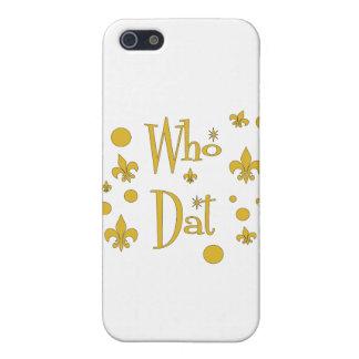 Quién la DIVERSIÓN de Dat en oro iPhone 5 Protector
