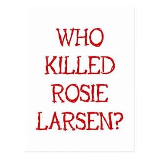 ¿Quién mató a Rosie Larsen? Postal