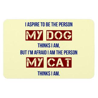 Quién mi perro me piensa son imán rectangular