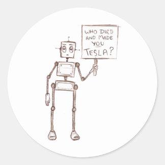¿Quién murió y le hizo a Tesla? Etiqueta Redonda
