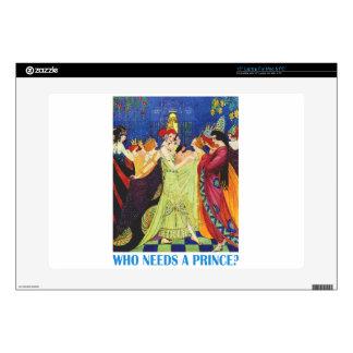 ¿Quién necesita a un príncipe? Calcomanías Para Portátiles
