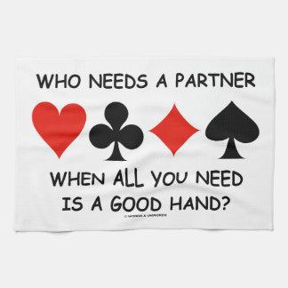 Quién necesita a un socio cuando todos lo que toalla de cocina