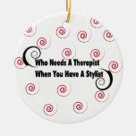 quién necesita a un terapeuta cuando usted tiene u ornamento de navidad