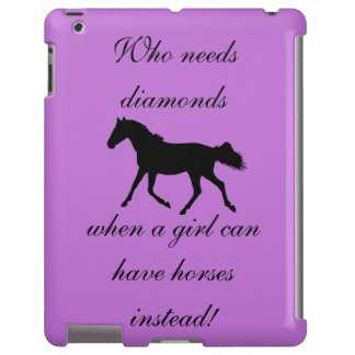Quién necesita el caballo de los diamantes funda para iPad