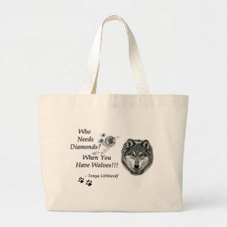 Quién necesita la colección de los diamantes bolsa tela grande