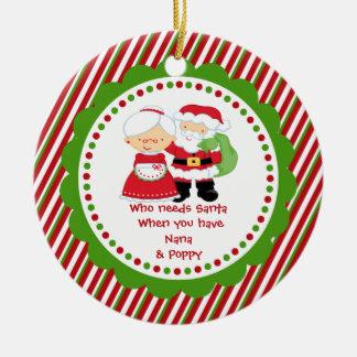 Quién necesita Santa. Navidad de Nana y del Poppa Ornamentos De Navidad