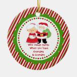 Quién necesita Santa. Navidad del abuelo de la Adorno Redondo De Cerámica