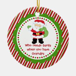 Quién necesita Santa… Ornamento del navidad del ab Ornaments Para Arbol De Navidad