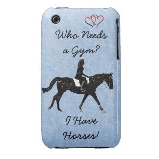 ¿Quién necesita un gimnasio? Caballo de la Case-Mate iPhone 3 Cárcasas