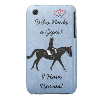 ¿Quién necesita un gimnasio? Caballo de la diversi Case-Mate iPhone 3 Protectores