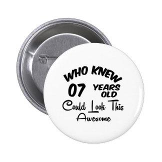Quién sabía 07 años. pins