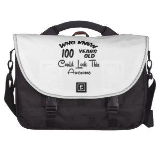Quién sabía 100 años. bolsas de portatil