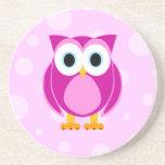 ¿Quién? Señora Pink Owl Posavasos Diseño