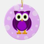 ¿Quién? Señora Purple Owl Ornatos