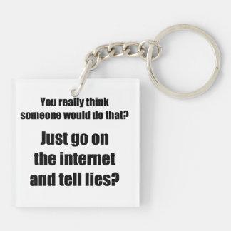 ¿Quién separa mentiras en el Internet? Llaveros
