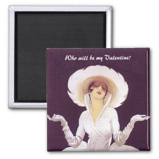 ¿Quién será mi tarjeta del día de San Valentín? Imán