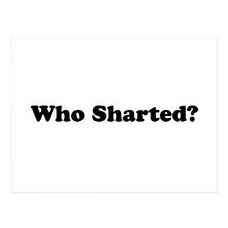 ¿Quién Sharted? Tarjetas Postales