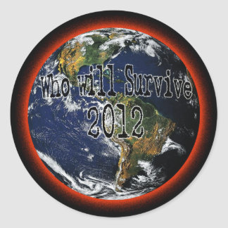 Quién sobrevivirá 2012 pegatina redonda