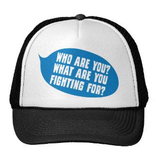 ¿Quién son usted?  Para cuál es usted que lucha Gorros Bordados