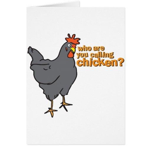 ¿quién son usted que llama el pollo? felicitación
