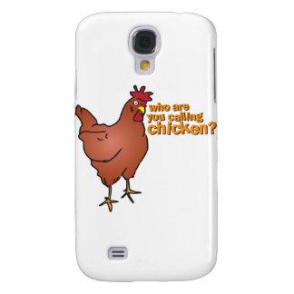 ¿Quién son usted que llama el pollo? ROJO Funda Para Galaxy S4